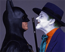 "Michael Keaton and Jack Nicholson in ""Batman"" (Warner Bros, 1989)"