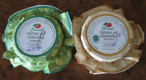 Humus izvorno s maslinovim i reinterpretiran s bučinim uljem, kreacija Mirjane Strancarić iz zagrebačkoga SMID-a (Snimila Božica Brkan / Acumen)