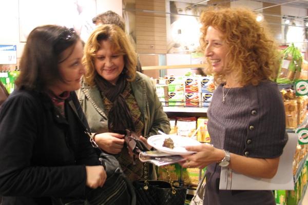Sparov marketing na djelu: ponosna Sandra Kokorić u razgovoru i kušanju s novinarkama na predstavljanju nove ekskluzivne linije (Snimila Božica Brkan / Acumen)