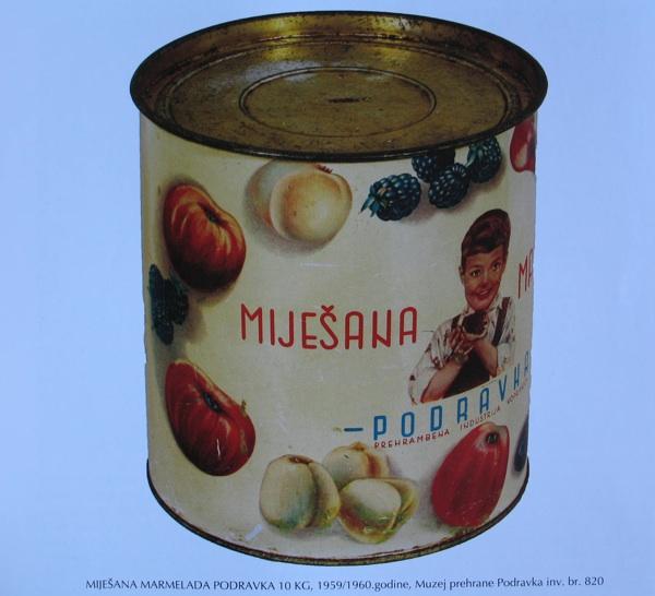 Povijesna miješana marmelada nasljednica je slavnih podravkinih domaćih pekmeza kao muzejski izložak (Fotografija Muzeja prehrane Podravka)