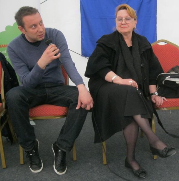 Na okruglome stolu Haris Salčinović s Ivankom Biluš od koje, tvrdi, mnogo naučio (Snimio Miljenko Brezak / Acumen)