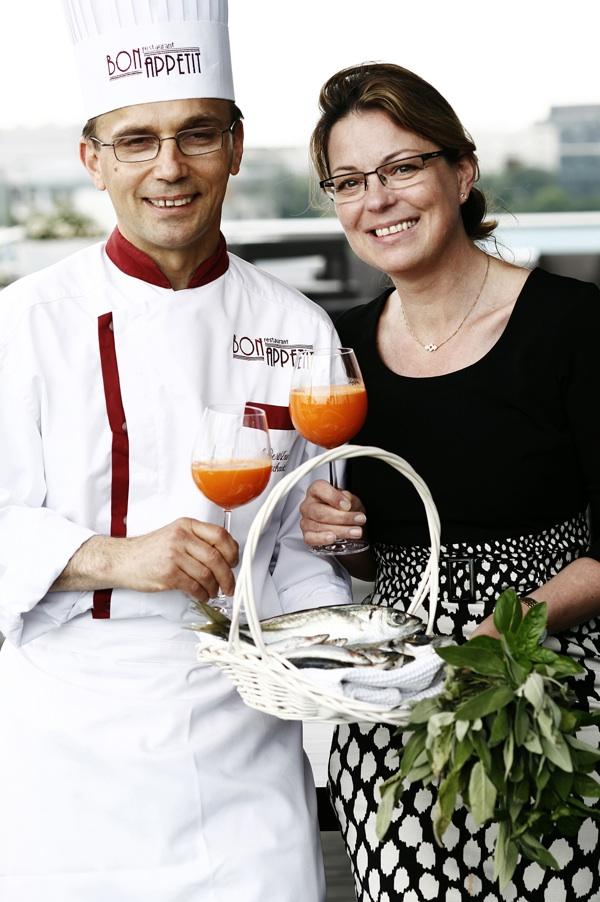 Bliski suradnici na Smart Foodu: chef Berislav lacković i doc. dr. sc. Donatella Verbanac (Fotografija Renato Branđolica / Bon Appetit)