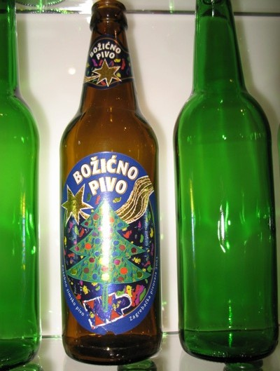 Jedno od božićnih piva Zagrebačke pivovare s izložbe u Etnografskog muzeja i Karlovačke pivovare (Snimila Božica Brkan / Acumen)