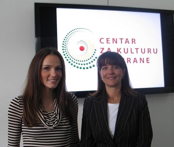 Martina Ivanjko i Ana Marušić- Lisac iz Centra za kulturu prehrane (Snimila Božica Brkan / Acumen)