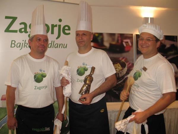 Trojica nabolji zagorskih chefova 2012.: Marko Živaljić, Ivica Žulj i Mislav Božić (Snimio Miljenko Brezak / Acumen)