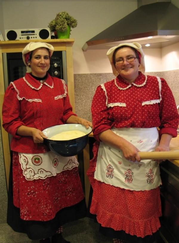 Sestre i snaše Kata Dimić i Ruža Ilijašević Zagrepčane su pozvale na svoje fine listariće u Štitar (Snimila Božica Brkan / Acumen)