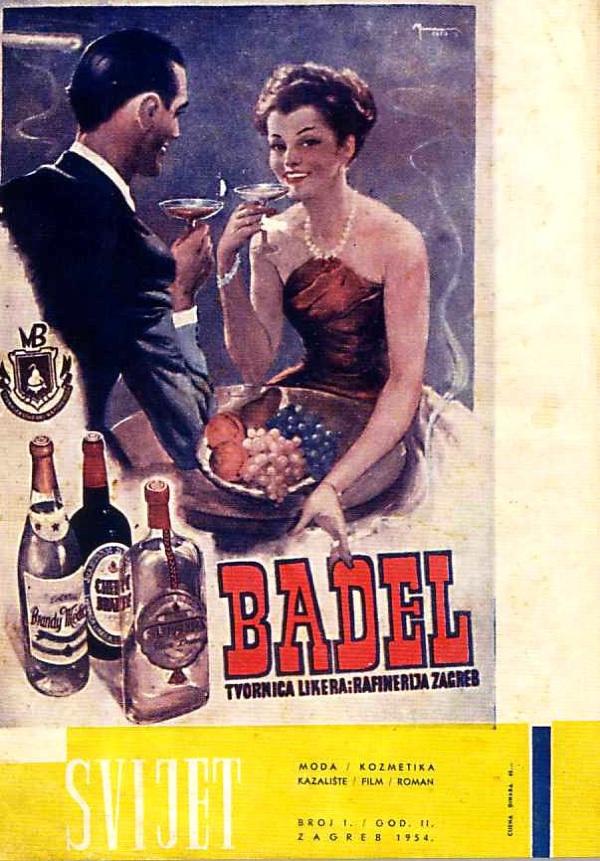 Oglas iz ženske revije Svijet 1954. godine