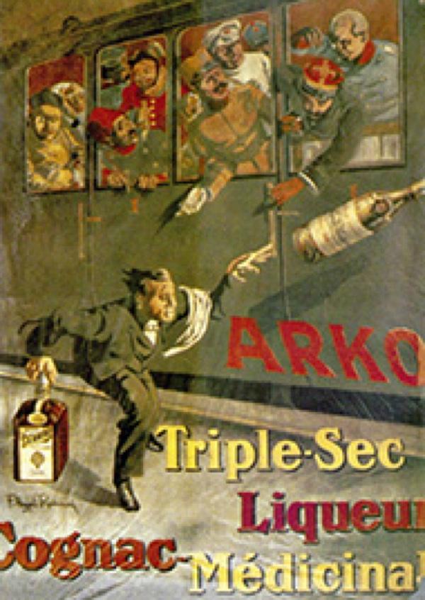 Plakat za Arko Franje Angelija Radovanija oko 1918. (Fotografija Badel 1862)