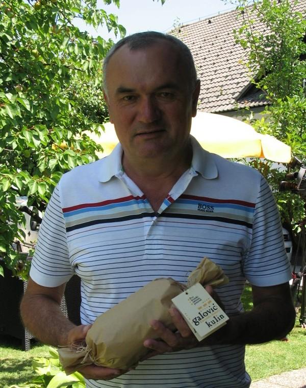 Dan za povijest: Tomislav Galović sa svojim kulinom (Snimila Božica Brkan/ Acumen)