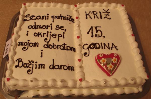 Prigodna torta s Kriških oblizeka 2012. (Snimio MIljenko Brezak / Oblizeki)
