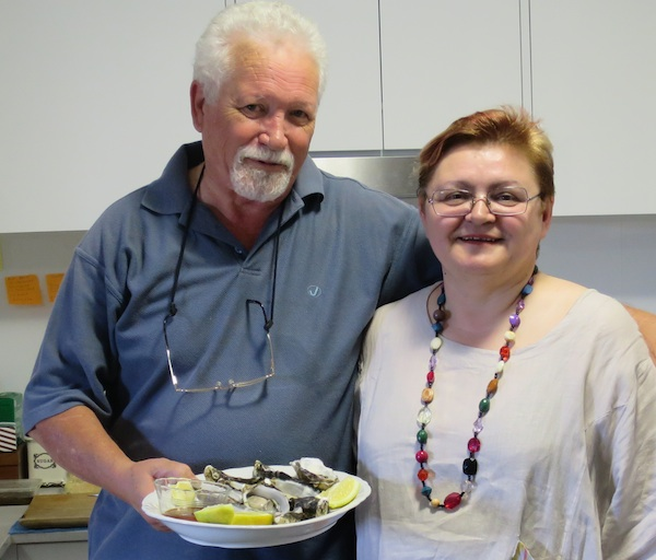 Ponovni susret nakon dva desetljeća: chef Dennis Valcich i Božica Brkan (Fotografija: Oblizeki)