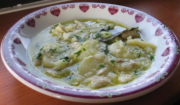 Više krumpira nego bakalara: starinska jednostavna siromaška receptura pripremljena također sa svježim bakalarom iz ledenice (Snimila Božica Brkan / Oblizeki)