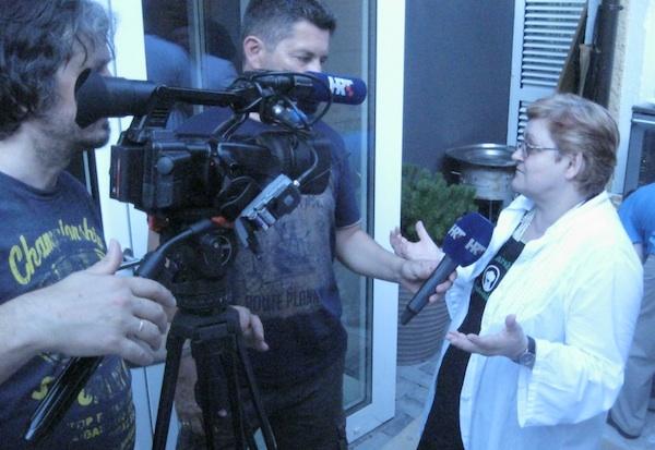 Usput su se raspredale priče o kotlovini i o rudarskoj greblici i za medije (Snimio Miljenko Brezak / Oblizeki)