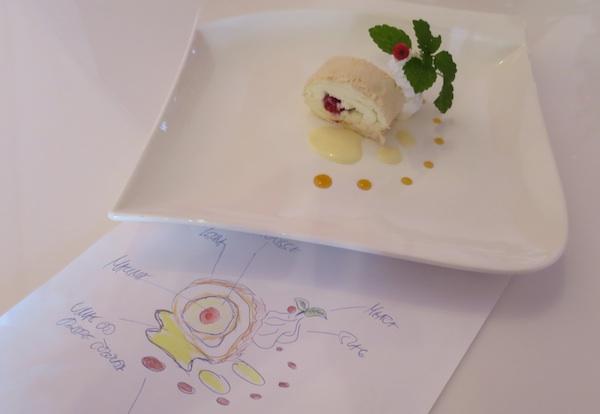 Crtež i izvedba slastica u bijelom i crvenom (Fotografija Božica Brkan / Oblizeki)