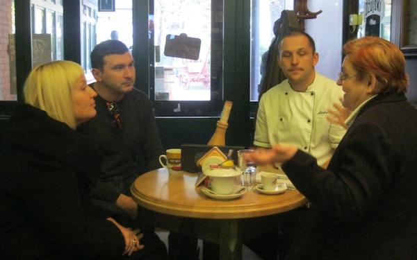 Uvodne ideje u zanimljiva jela, slijeva nadesno Tina Puhalo Grladinović, Marin Levaj, Marko Jovanović i Božica Brkan (Fotografija Oblizeki)