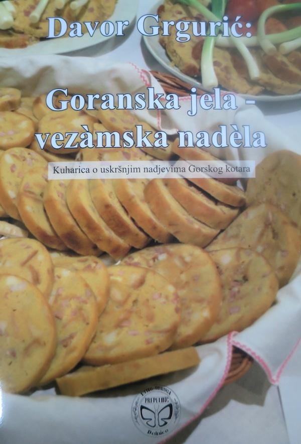Naslovnica knjige Goranska jela – vezàmska nadèla