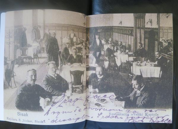 Iz knjige: stara arhivska razglednica kao dobra strana gastroprošlosti Siska