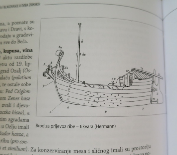 Ilustracija za knjige: brod za prijevoz ribe