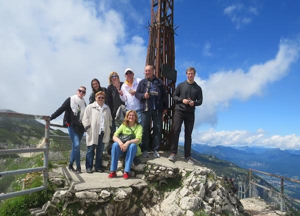 Ekipa hrvatskih blogera na Untersbergu (Fotografija Oblizeki)