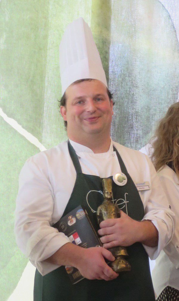 Marko Futivić,jedan od učestalovisokoocjenjivanih kuhara iz Blue Sun Hotela Kaj iz Marije Bistrice, također visoko ocjenjivanoga (Božica Brkan / Fotografija Oblizeki)