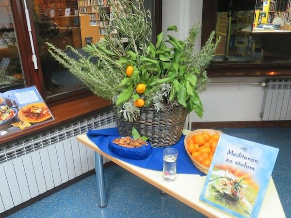 Mediteransko bilje na jednom od predstavljanja kuharice Mediteran za stolom Ivanke Biluš i Božica Brkan (Fotografija Miljenko Brezak / Oblizeki)
