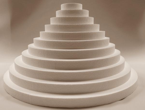 Okrugle torte od stiropora kakve s emogu nabaviti i u nas (Fotografija Davorka Geršak / pekarski glasnik)