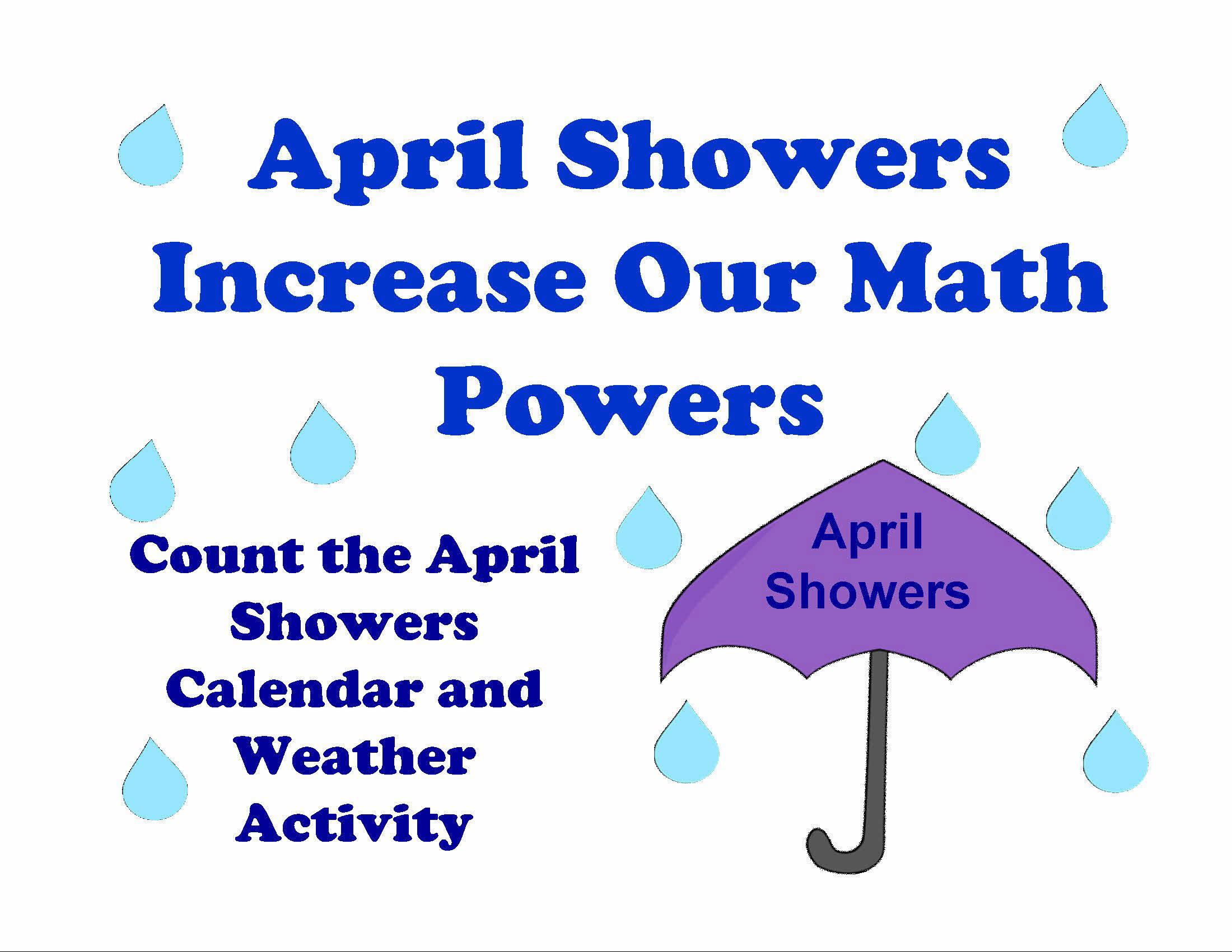 Preschool April Calendar Activity