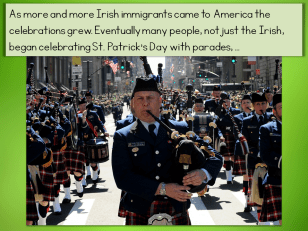 teaching the history of St. Patrick's Day