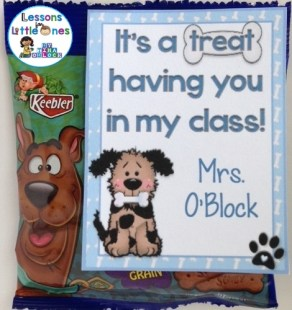 It's a treat having you in my class back to school student gift tag