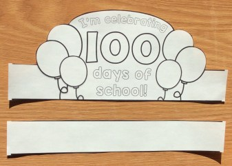 I'm celebrating 100 days of school crown
