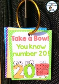 numbers brag tag on binder ring