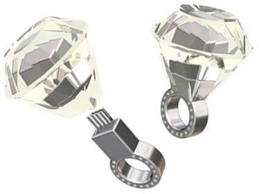 Esbozo de unos anillos de pedida con memoria USB