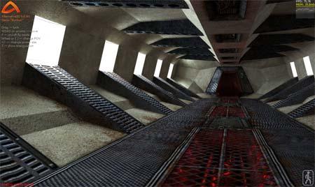 Captura de pantalla de una demo de uso del motor 3D de Alternativa