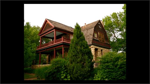 Foto de una casa de piedra
