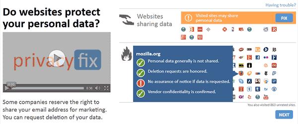 Captura de pantalla en la que se muestra cuáles son las políticas de un sitio en concreto