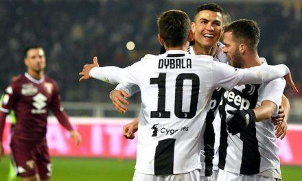 Победный гол Роналду и желтая карточка за оскорбление вратаря «Торино»