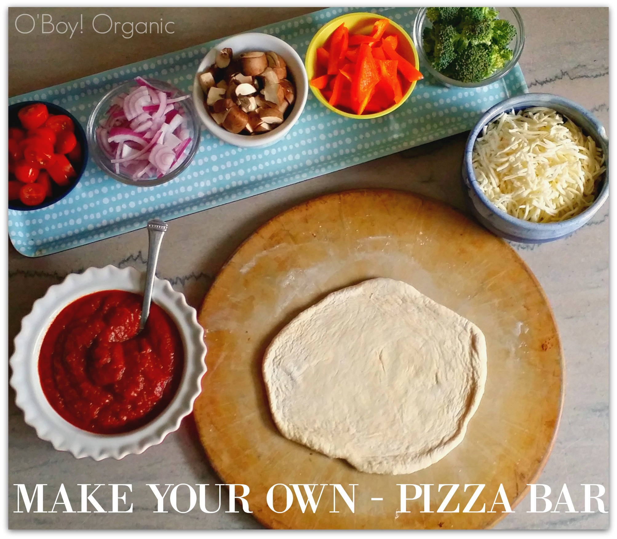 Low Stress Dinners Make Your Own Pizzas