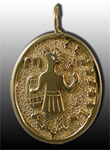 An ancient Greek pendant in gold depicting the god Abraxas. (Photo Credit)