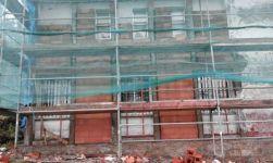 Reforzo fachada con termoarxila