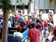 Parents and teachers rally in downtown San Diego, April 19 2008