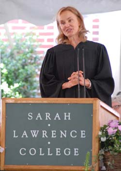 Actress Jessica Lange at Sarah Lawrence