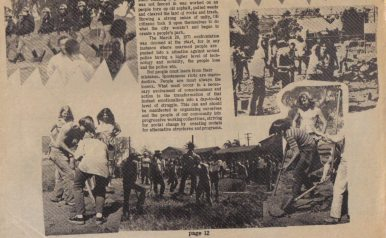 Text & photo montage, OB Rag Vol 2, No 8 - early March 1972