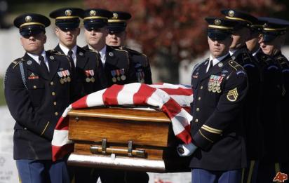US troops funeral