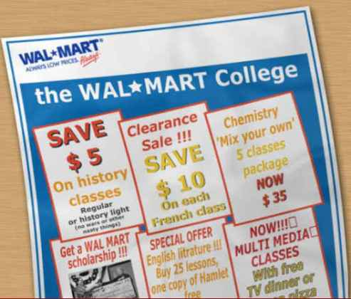 education Walmart-style