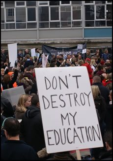 education - sign protest