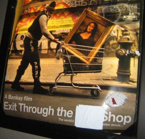 Banksy poster_vandalized