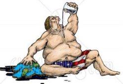 greedy fat man