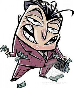 rich guy cartoon