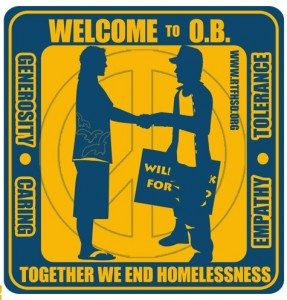 Homeless sticker New