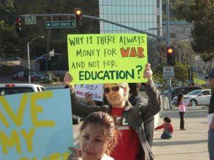 education cuts vs war